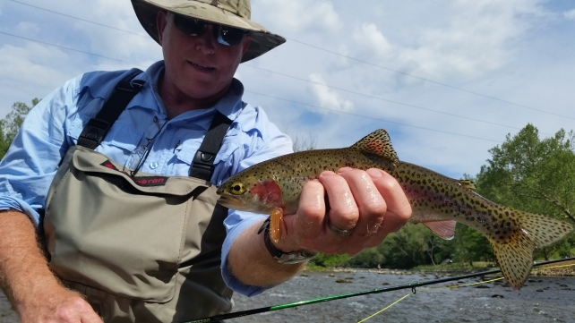 Mike Blackmon with one of over 50 fish on the SoHo on our 5-9 trip