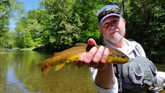 David Carter with a nice SoHo brown....We sight fished this guy with a sulphur nymph
